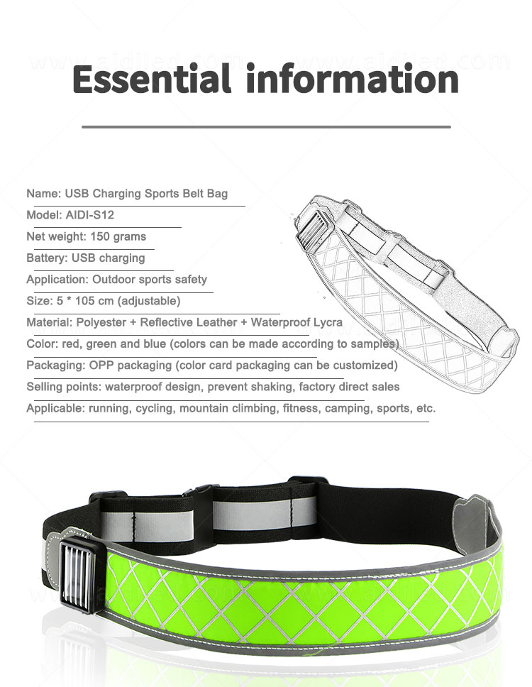 air permeable jogging waist belt customized for woman-7
