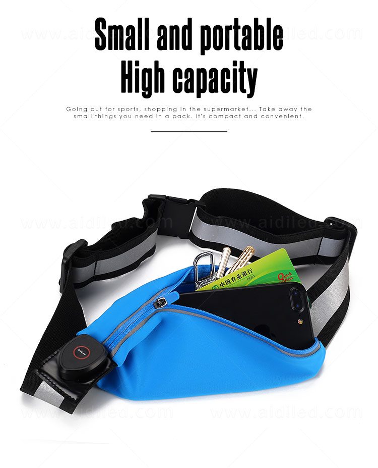 product-Led outdoor sport waist bag for night safety single bags AIDI-S17-AIDI-img