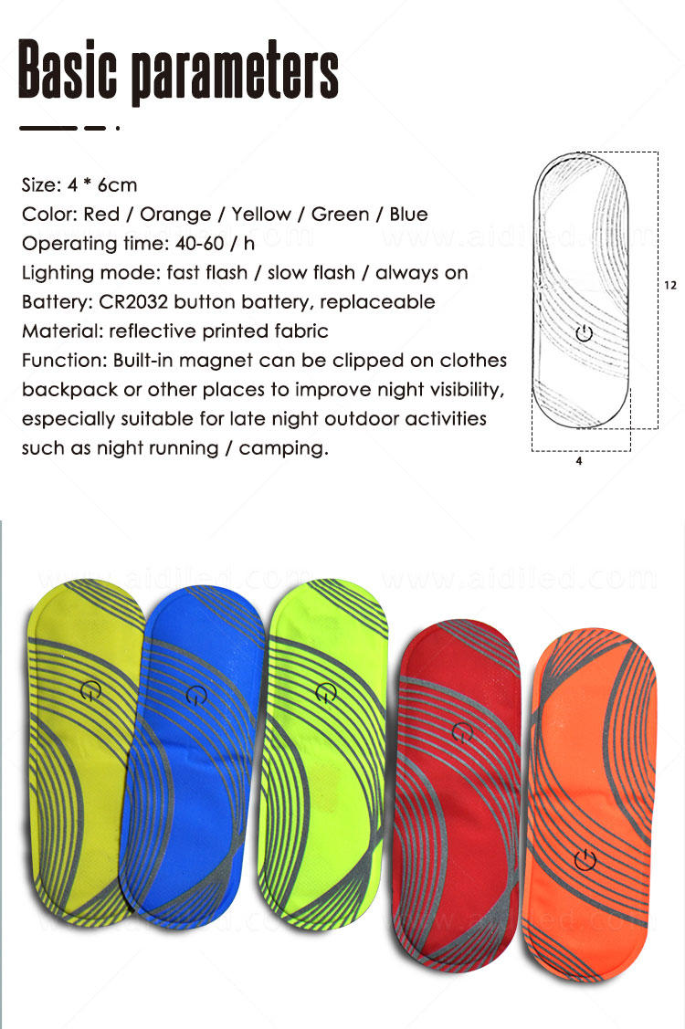 rechargeable safety lights for runners supplier for outdoors