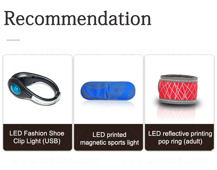 product-waterproof USB rechargeable LED magnet clip safety lights for runners AIDI-S5-AIDI-img