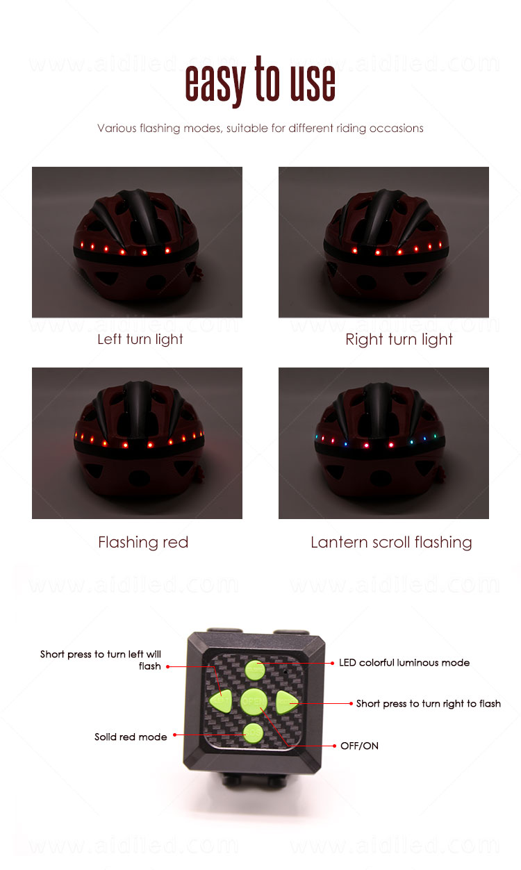 AIDI professional led bike helmet with good price for woman-8