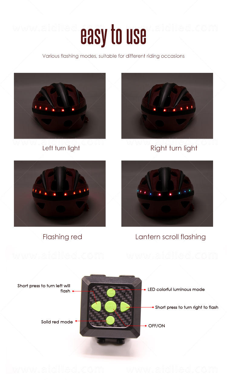AIDI professional led bike helmet with good price for woman