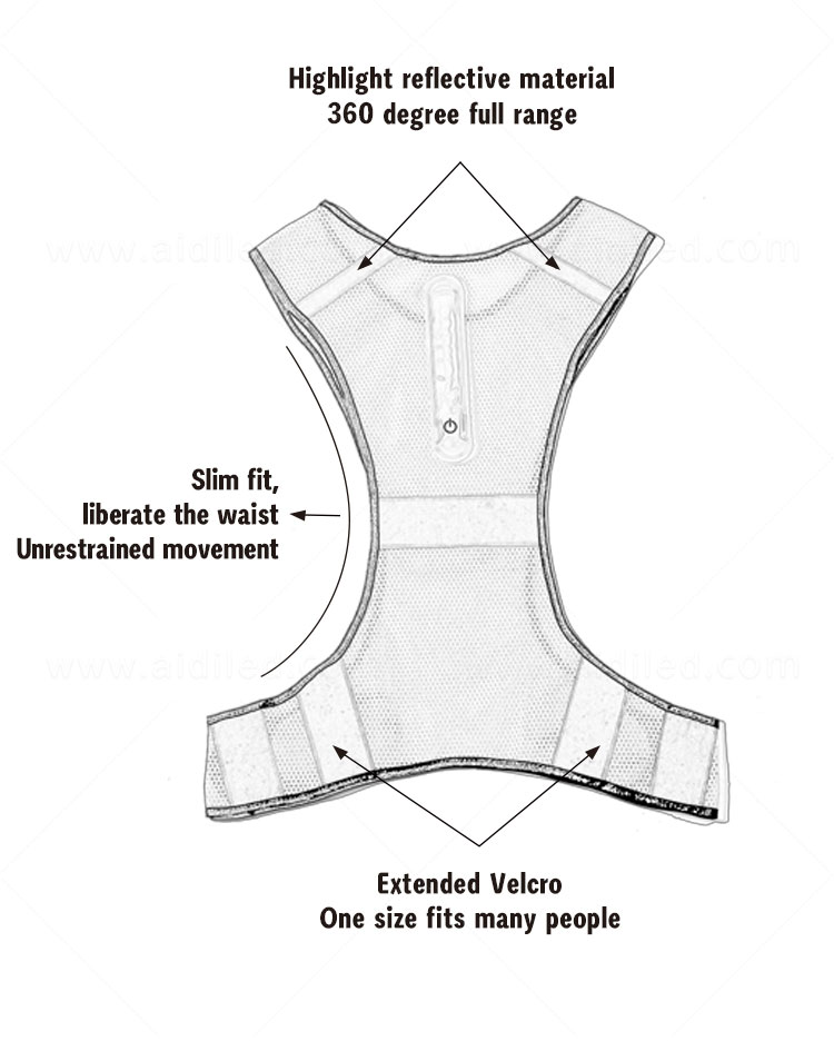 product-Led outdoor sports safety high visibility vest AIDI-S11-AIDI-img