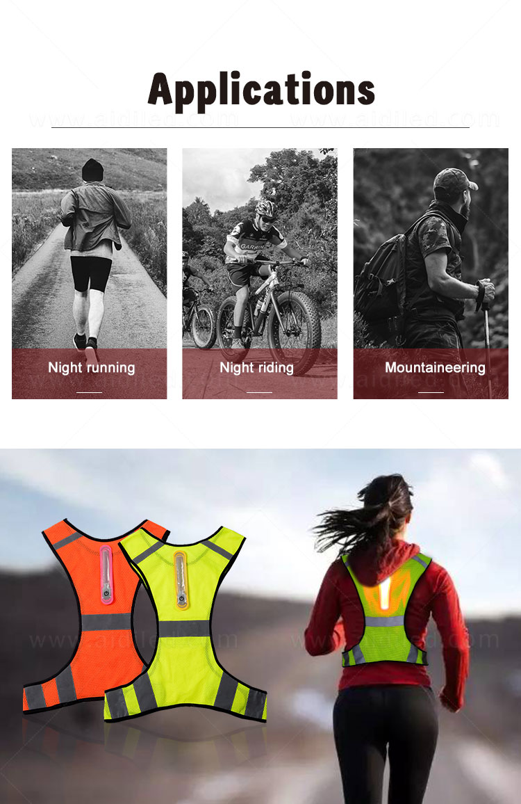 AIDI high visibility vest series for sports-13