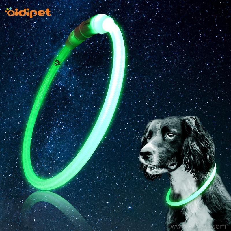 AIDI-C1-1 LED waterproof dog collar lights that light up at night
