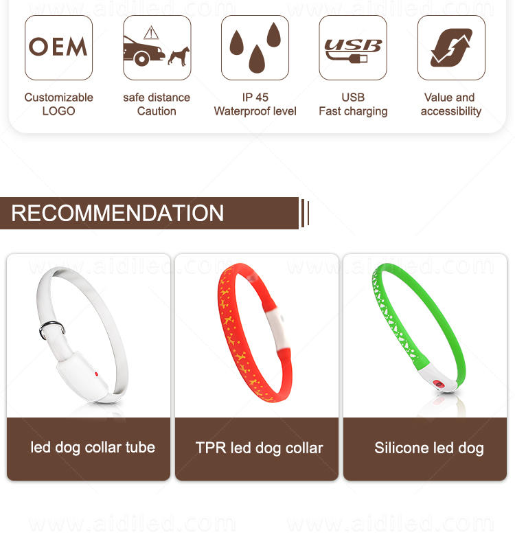 AIDI led dog collar waterproof inquire now for outdoors