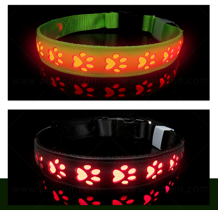 AIDI waterproof best glow in the dark dog collar inquire now for walking-8