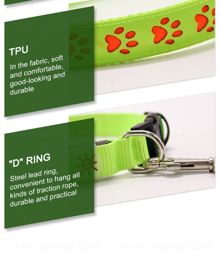 AIDI waterproof best glow in the dark dog collar inquire now for walking-12