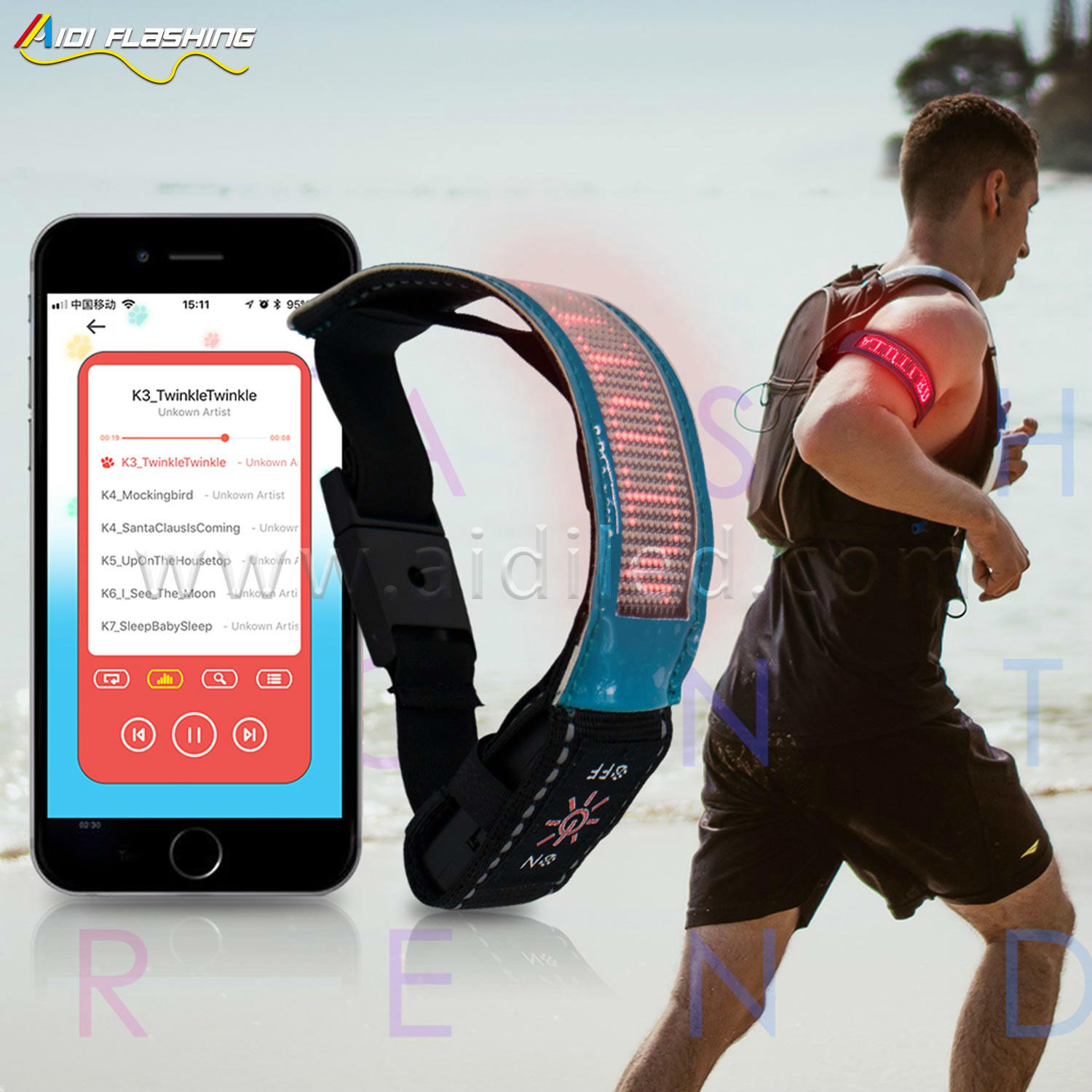 S20 Bluetooth led armband