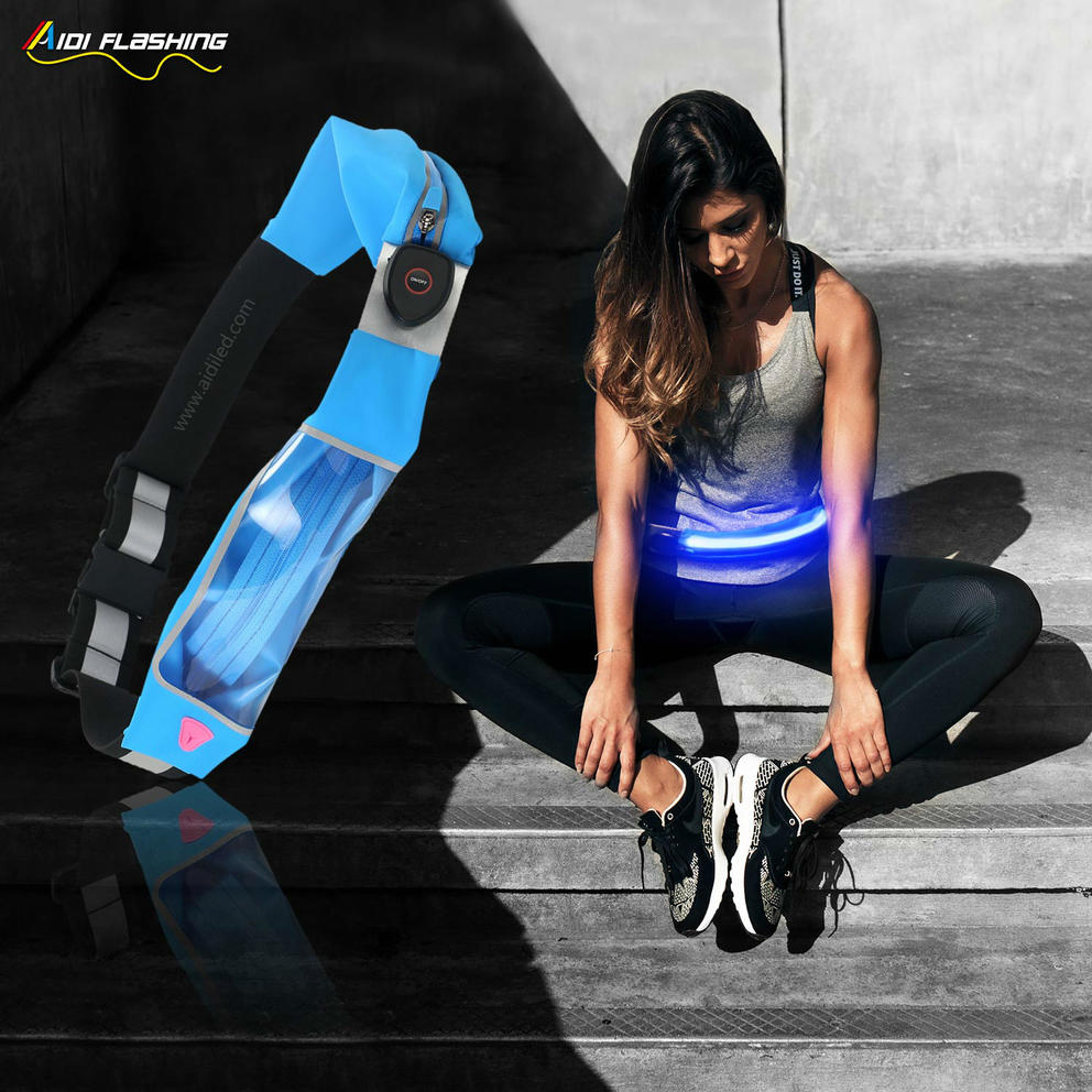 S16 LED waist bag with double bags