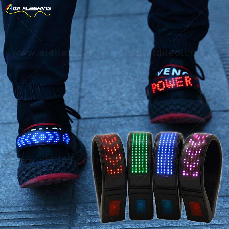 Led screen running shoe clip