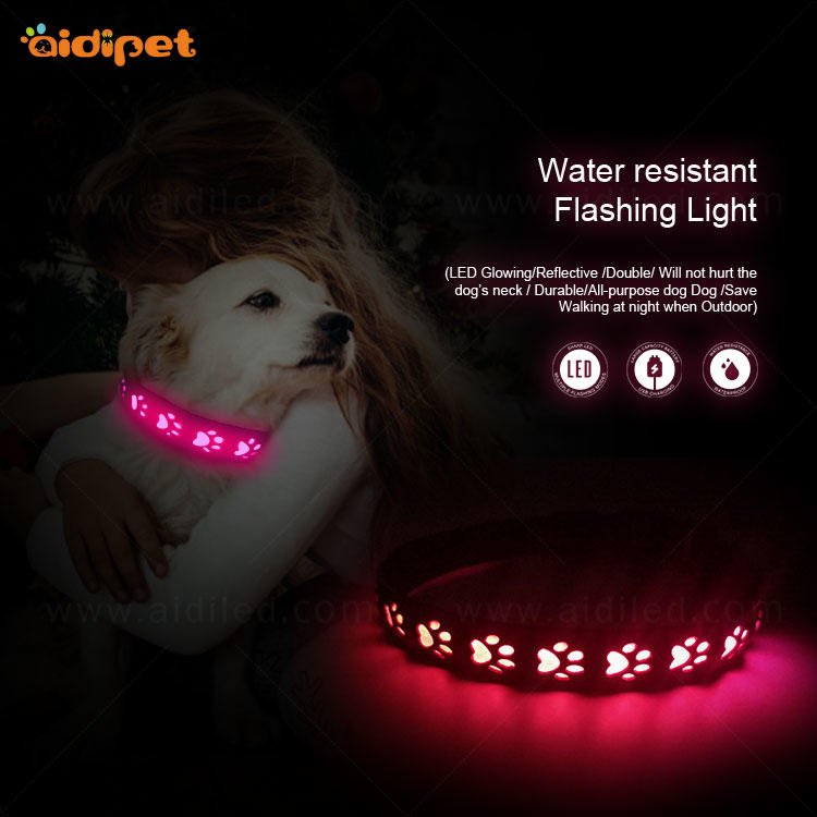 AIDI-C14 RGB Led Colorful Light Dog Collar