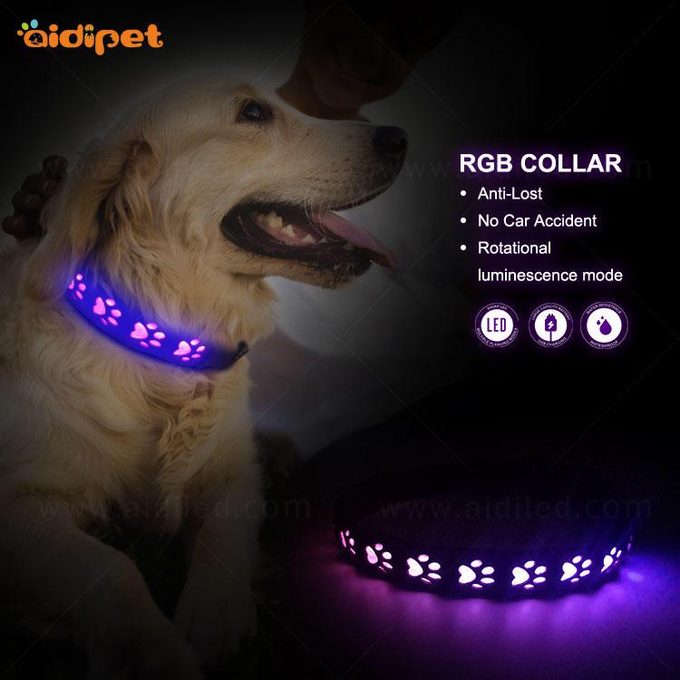 AIDI-C14 RGB Led Colorful Light Dog Collar