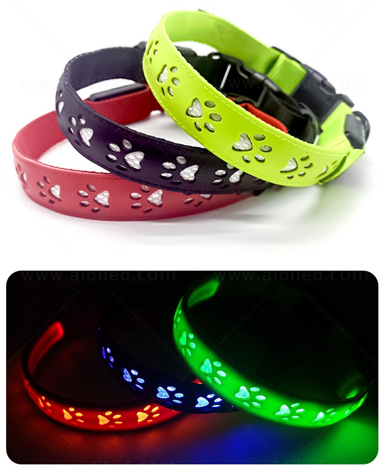 waterproof led pet collar light inquire now for walking-8