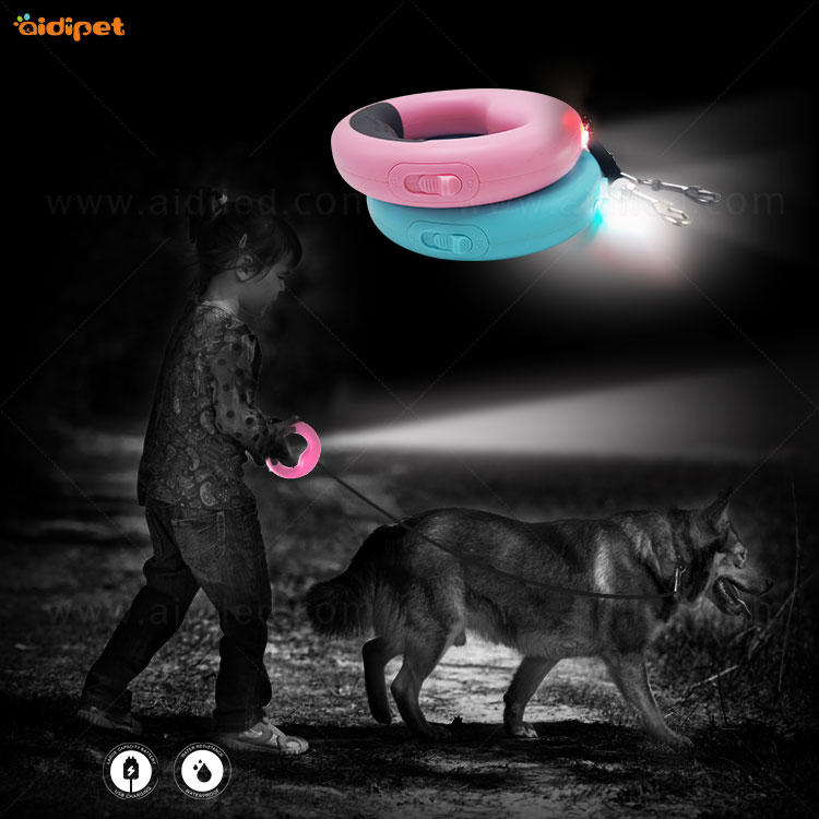 M10 Retractable Dog Leash with Led