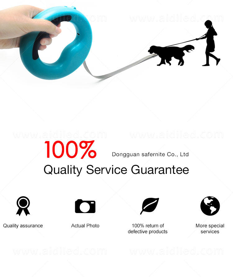AIDI nylon light up dog collar and leash factory for park
