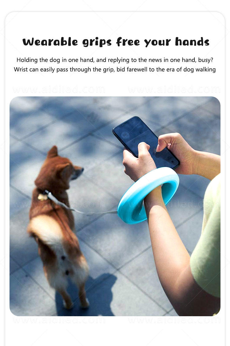AIDI rechargeable lighted dog leash design for pet