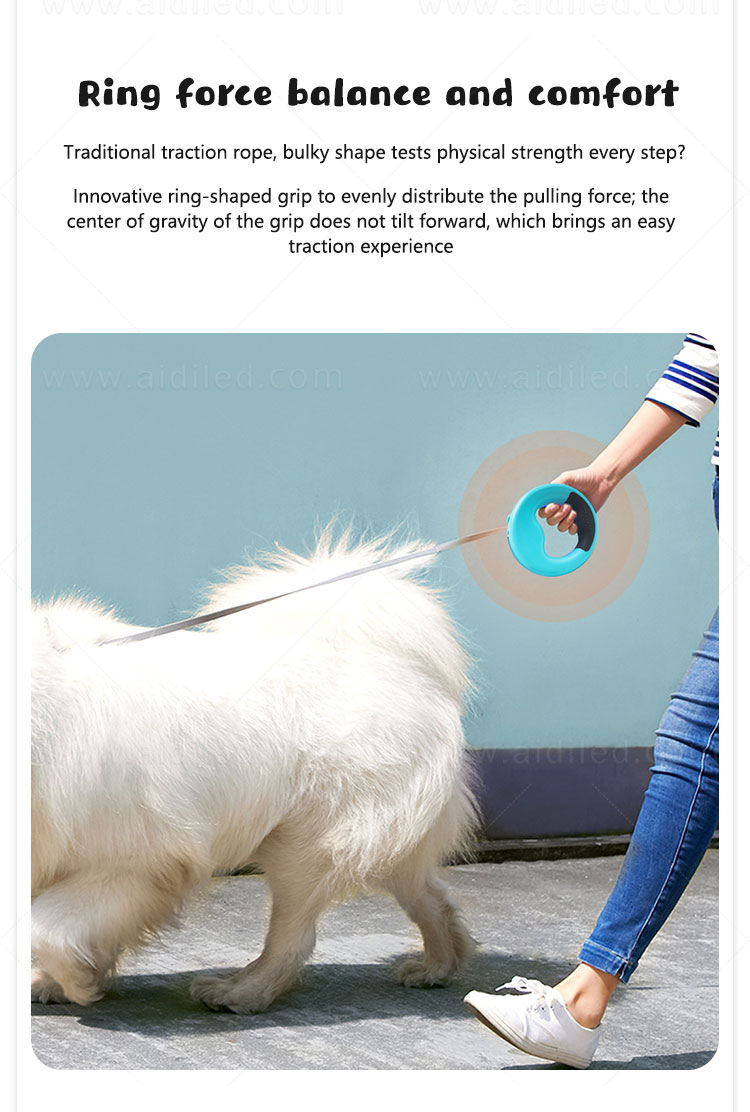 AIDI rechargeable lighted dog leash design for pet-6