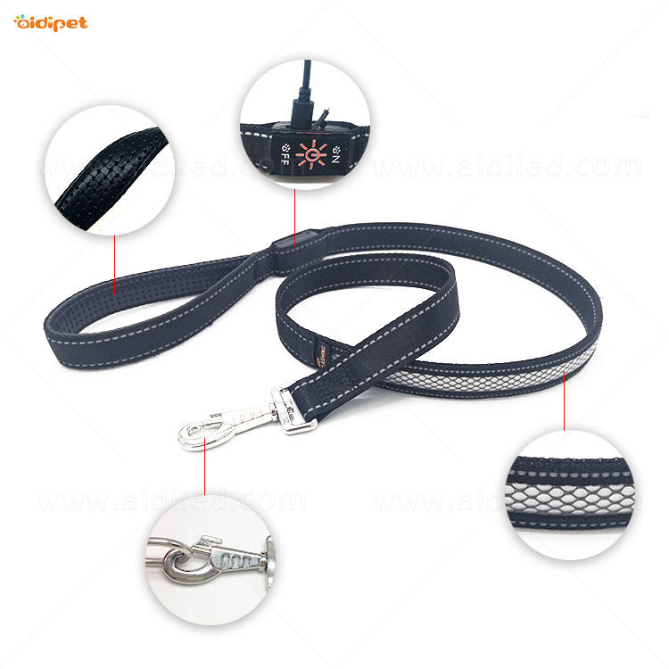 AIDI led light dog leash with good price for pet