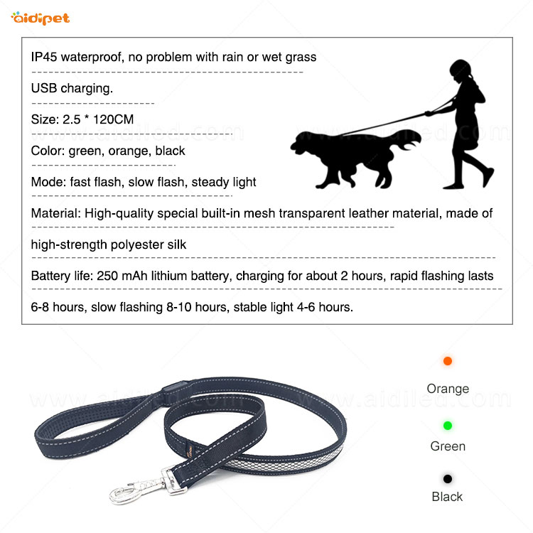 product-L30 Led reflective dog leash-AIDI-img