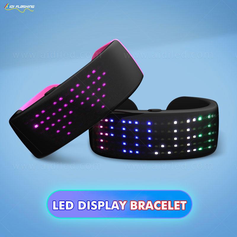 Led display bracelet with 9 modes