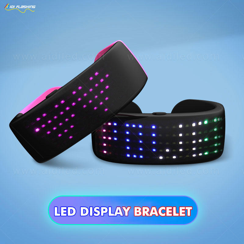 Led display bracelet with 9 modes