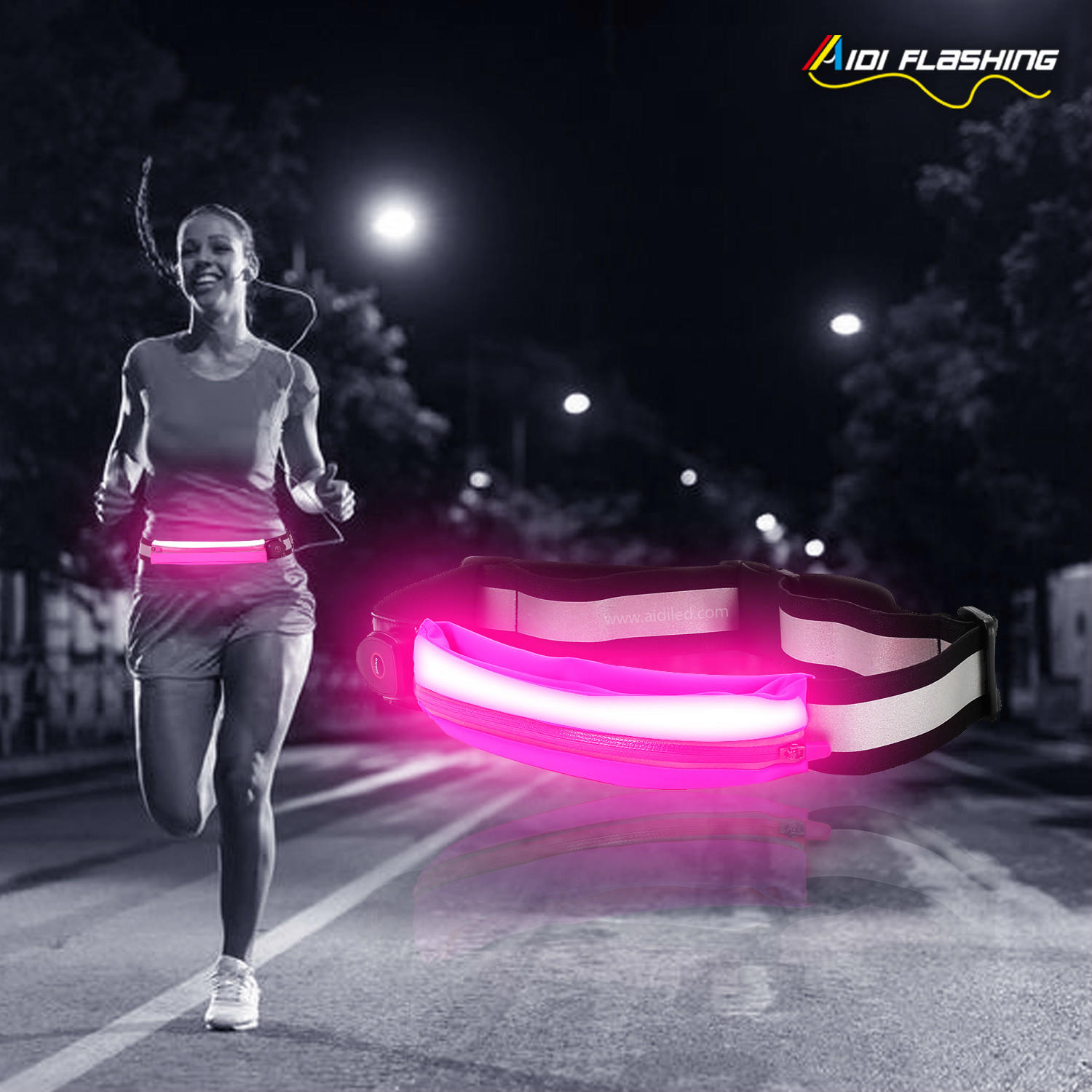 S16 Led Waist Bag for Night Sport