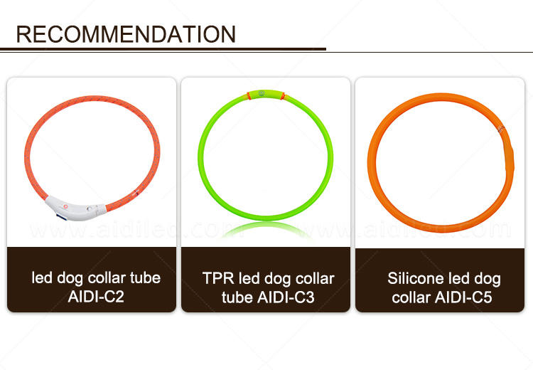 nylon led dog collar factory for park-1