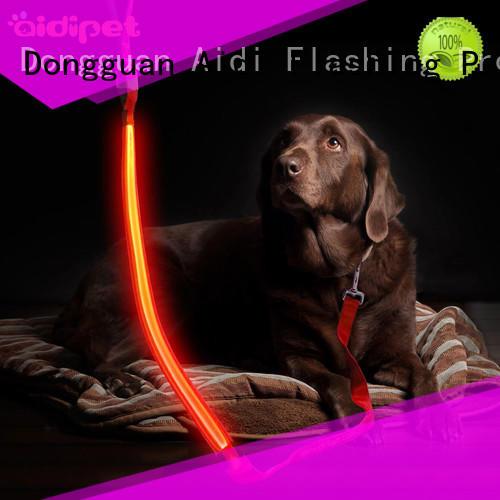 AIDI flat light up dog leash design for walking