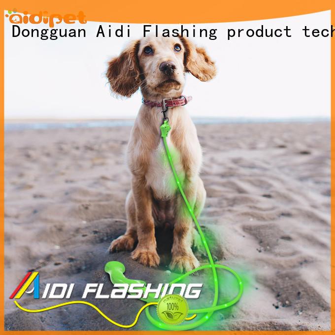 AIDI fishnet led dog leash factory for walking