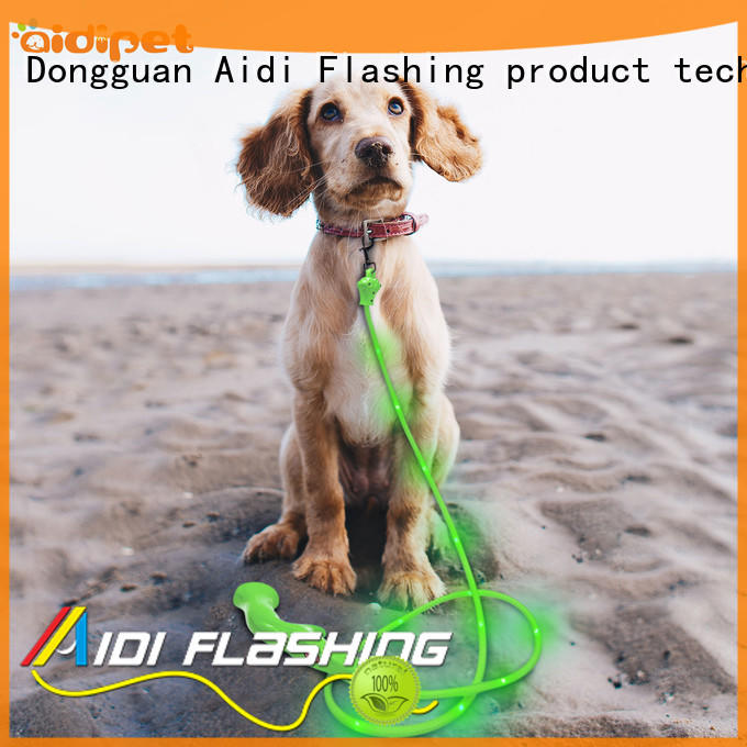 AIDI fishnet led dog leash factory for walking