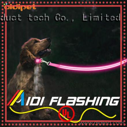 led dog leash design for park AIDI