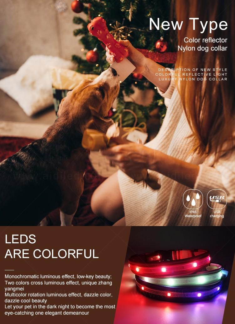 AIDI remote led dog collars design for outdoors-2
