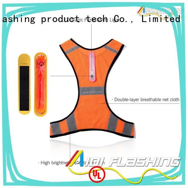 light reflect lighted safety vest customized for sports AIDI