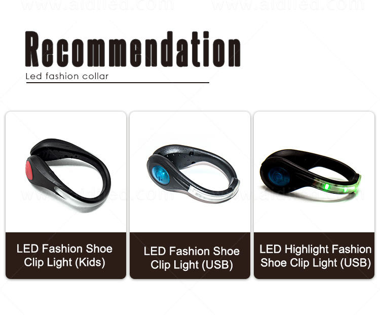 durable night runner led shoe clip design for kids-1