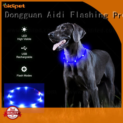 AIDI led dog collar factory for walking