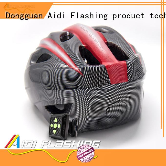 AIDI red led bike helmet factory for woman