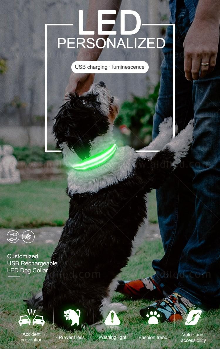 AIDI led dog safety collar design for park-1