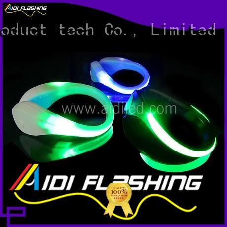 AIDI white led shoe clip factory for adults