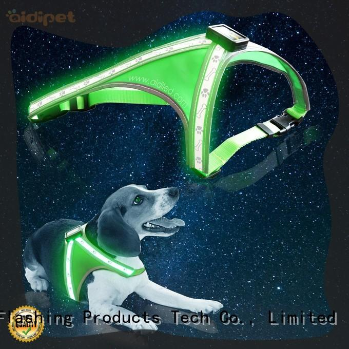 AIDI colorful glowing dog collar customized for pet