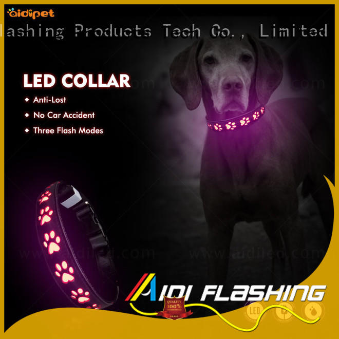 AIDI waterproof best glow in the dark dog collar inquire now for walking