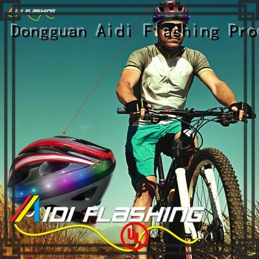 AIDI black light up bike helmet inquire now for man