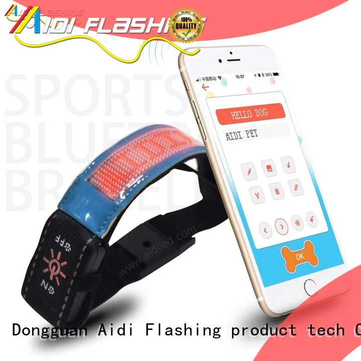 flashing armbands for runners screen for woman AIDI