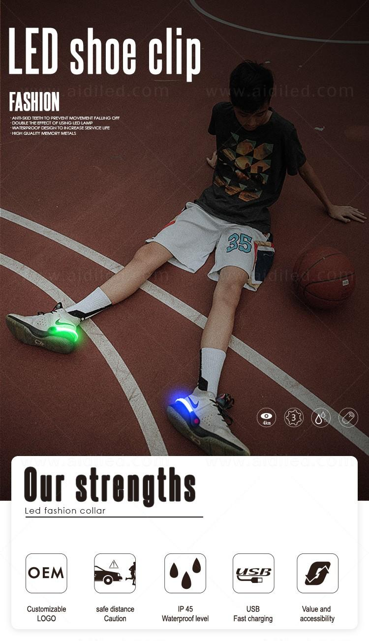 durable night runner led shoe clip design for kids-2