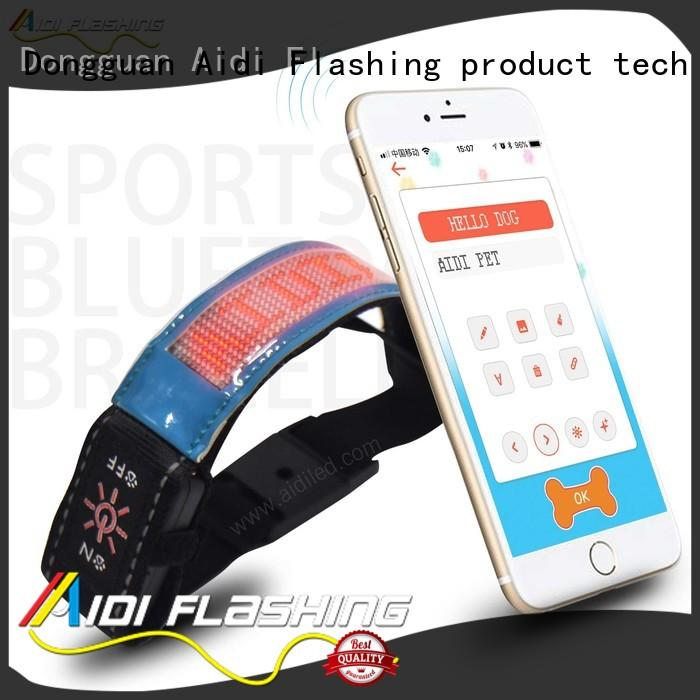 Led Screen Bluetooth Controlled Outdoor Sports Reflective Armbands AIDI-S20