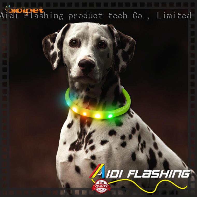 AIDI reflective small light up dog collar for pet