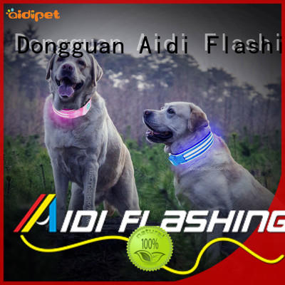 AIDI durable luminous dog collar with good price for park