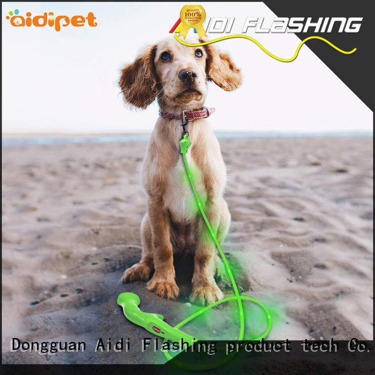 AIDI glow in the dark dog leash inquire now for park