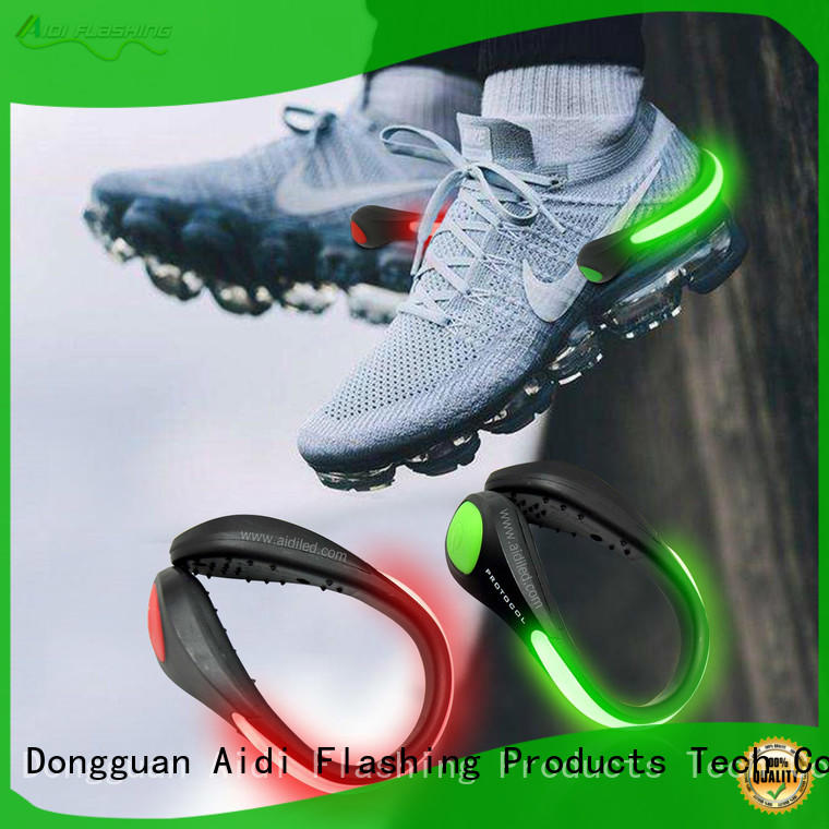 AIDI night runner led shoe clip factory for children