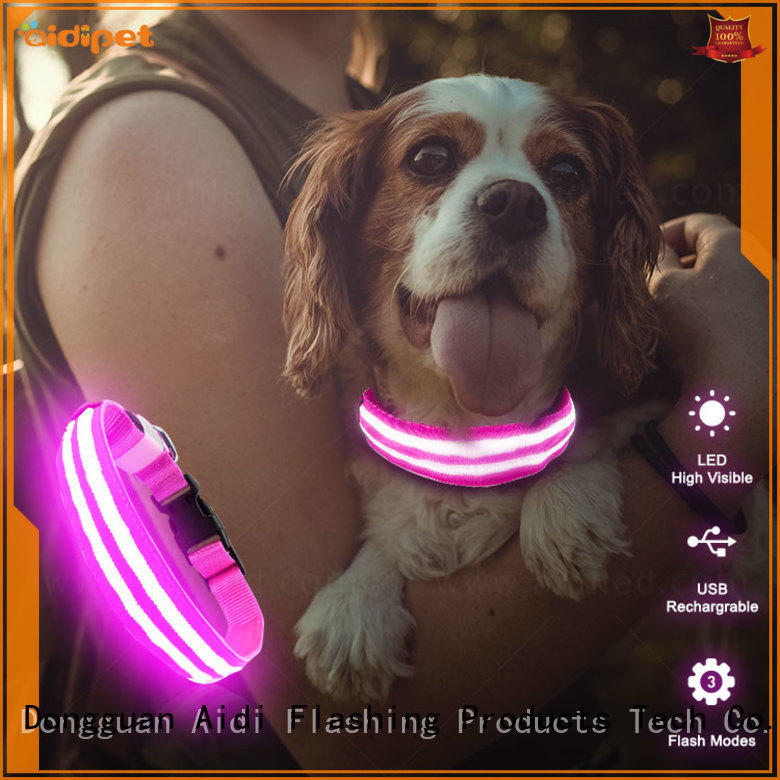 AIDI luminous dog collar with good price for park